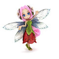 Cute toon fairy posing on a white background Royalty Free Stock Photo