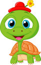 Cute turtle cartoon illustration of Stock Photos