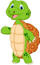 Cute turtle cartoon presenting illustration of Stock Image