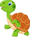 Cute turtle cartoon running illustration of Royalty Free Stock Photos