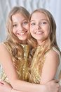 Cute twin sisters Royalty Free Stock Photo
