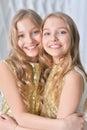 Cute twin sisters