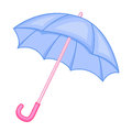 Cute umbrella cartoon isolated illustration on white background Royalty Free Stock Photography