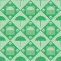 Cute umbrella pattern Royalty Free Stock Photos