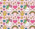 Cute unicorn, princess concept, girl beauty Royalty Free Stock Photo
