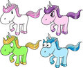 Cute Unicorn Set Royalty Free Stock Photos