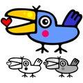 Cute valentine bird Royalty Free Stock Image