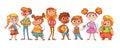 Cute variety of children