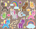 Cute Vector Collection of Unicorns or Horses