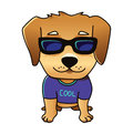 Cute vector cool dog