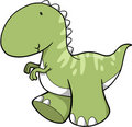 Cute Vector Dinosaur Stock Images