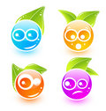 Cute vector emoticon icons Royalty Free Stock Photography