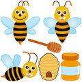 Cute Vector Icons : Bee, Honey Stock Image