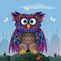Cute vector owl Stock Photo