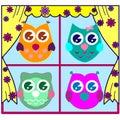 Cute Vector Owls