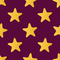 Cute vector seamless pattern (tiling) made of stars