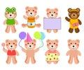 A cute Vector set : Bears Royalty Free Stock Photography