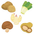 Cute vegetable collection 05 Royalty Free Stock Photos
