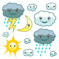 Cute weather set Royalty Free Stock Photo