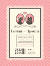Cute wedding invitation frame template design Stock Photos