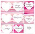 Cute Wedding templates Stock Image
