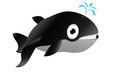 Cute whale cartoon smiling illustration Royalty Free Stock Photo