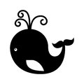 Cute whale toy isolated icon