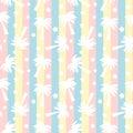 Cute White Palm Trees Silhouet...
