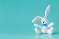 Cute white rabbit toy Royalty Free Stock Photo