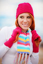 Cute winter girl Royalty Free Stock Photos