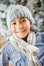 Cute winter girl Royalty Free Stock Photo