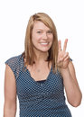 Peace sign Royalty Free Stock Photo