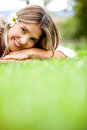 Cute woman outdoors Royalty Free Stock Photo
