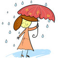 Cute woman with umbrella Stock Images