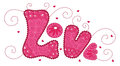 Cute word love for your design Stock Image