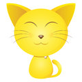 Cute yellow cat clip art for gift pattern covers childrens illustrations books postcards etc Royalty Free Stock Photos