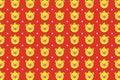 Cute yellow piggy background