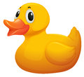 A cute yellow rubber duck Royalty Free Stock Photo