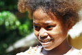 Cute young black african girl poor child madagascar Stock Photography