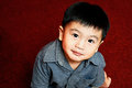 Cute young boy portriat of a asian looking at camera Stock Images