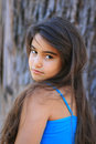 Cute young brunette girl Royalty Free Stock Images