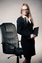 Cute young business lady Stock Photography