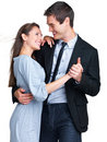 Cute young couple dancing together Royalty Free Stock Photography