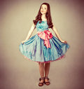 Cute young girl dressed as a princess Stock Images