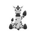 Cute zebra is animal cartoon in safari zoo from africa of paper the cut Stock Photo