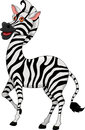Cute zebra cartoon Stock Photography