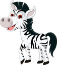 Cute zebra cartoon smiling illustration of Stock Photography
