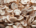 Cuted mushrooms Royalty Free Stock Photography