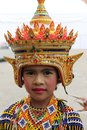 Cutie girl is dancing in southern of thailand Royalty Free Stock Image
