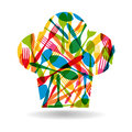 Cutlery chef hat illustration colorful dishware pattern shape this vector is layered for easy manipulation and custom Stock Photos